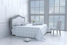 δωμάτιο κρεβατιών στην ευτυχή ημέρα Στοκ φωτογραφία με δικαίωμα ελεύθερης χρήσης
