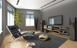 Δωμάτιο μέσων με ένα στερεοφωνικό συγκρότημα Στοκ φωτογραφία με δικαίωμα ελεύθερης χρήσης