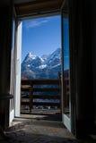 Δωμάτιο με μια θέα βουνού Στοκ φωτογραφίες με δικαίωμα ελεύθερης χρήσης