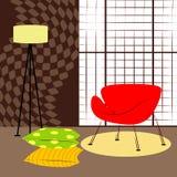 Δωμάτιο με τη μικρή κόκκινη καρέκλα Στοκ φωτογραφία με δικαίωμα ελεύθερης χρήσης