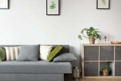 Δωμάτιο με τον καναπέ και το ράφι Στοκ φωτογραφία με δικαίωμα ελεύθερης χρήσης