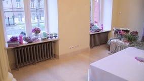 Δωμάτιο με το γαμήλιο κατάλογο Ιδιότητες των διακοπών φιλμ μικρού μήκους