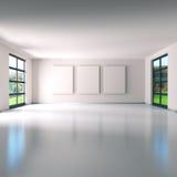 Δωμάτιο με τρεις οθόνες στοκ εικόνα με δικαίωμα ελεύθερης χρήσης
