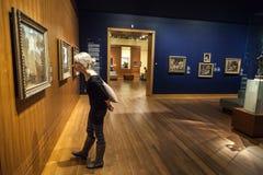 Δωμάτιο μουσείων Καλών Τεχνών του Μόντρεαλ στοκ εικόνα