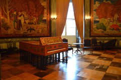 Δωμάτιο μουσικής στη Royal Palace Στοκ φωτογραφία με δικαίωμα ελεύθερης χρήσης