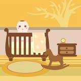 δωμάτιο μωρών ξύλινο Στοκ εικόνες με δικαίωμα ελεύθερης χρήσης