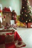 Δωμάτιο ντεκόρ Χριστουγέννων Στοκ Φωτογραφίες