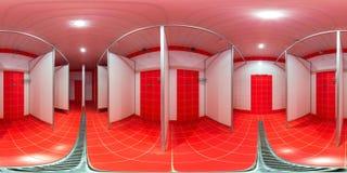 Δωμάτιο ντους με τις καμπίνες ντους Στοκ Εικόνες