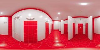 Δωμάτιο ντους με τις καμπίνες ντους Στοκ εικόνα με δικαίωμα ελεύθερης χρήσης