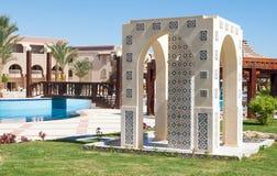 Δωμάτιο ντους σε ένα μαροκινό ύφος σε ένα θέρετρο στην Αίγυπτο Στοκ εικόνες με δικαίωμα ελεύθερης χρήσης