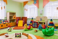 Δωμάτιο παιχνιδιών στον παιδικό σταθμό Στοκ φωτογραφία με δικαίωμα ελεύθερης χρήσης