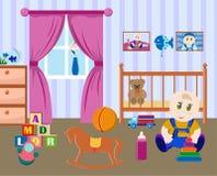 Δωμάτιο παιδιών ένα μικρό αγόρι Στοκ φωτογραφία με δικαίωμα ελεύθερης χρήσης