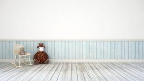 Δωμάτιο παιδιών και τρισδιάστατη απεικόνιση διακοσμήσεων τοίχων Στοκ Φωτογραφίες