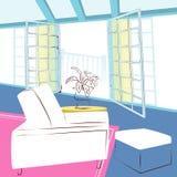 Δωμάτιο πεζουλιών Στοκ εικόνες με δικαίωμα ελεύθερης χρήσης