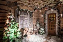 Δωμάτιο που διακοσμείται εσωτερικό στο ύφος Χριστουγέννων Στοκ φωτογραφία με δικαίωμα ελεύθερης χρήσης