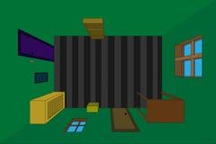 Δωμάτιο προοπτικής διανυσματική απεικόνιση