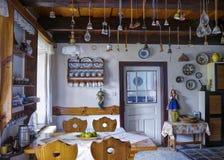 Δωμάτιο στο εξοχικό σπίτι Στοκ Εικόνες