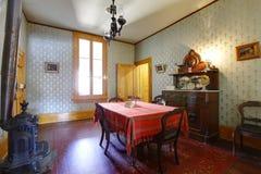 Δωμάτιο στο μουσείο σπιτιών Whaley, παλαιά πόλη του Σαν Ντιέγκο στοκ φωτογραφίες