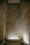 Δωμάτιο στο ναό Edfu Στοκ Εικόνες
