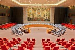 Δωμάτιο Συμβουλίου Ασφαλείας Ηνωμένων Εθνών Στοκ Εικόνες