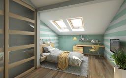Δωμάτιο του έξυπνου εφήβου Στοκ εικόνα με δικαίωμα ελεύθερης χρήσης