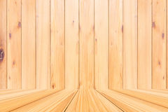 Δωμάτιο του ξύλινου υποβάθρου σύστασης σανίδων Στοκ Εικόνες