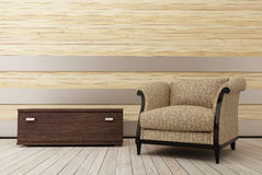 δωμάτιο 2 πολυθρόνων ξύλιν&omicr Στοκ εικόνες με δικαίωμα ελεύθερης χρήσης