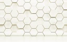 Δωμάτιο Abstact με το άσπρο πάτωμα και το φουτουριστικό τοίχο τρισδιάστατος δώστε ελεύθερη απεικόνιση δικαιώματος