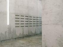 Δωμάτιο Minimalistic με τις συγκεκριμένες επιφάνειες (μετα άποψη κιβωτίων) Στοκ Εικόνες