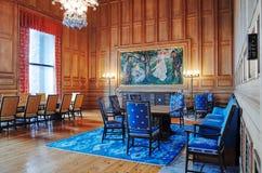 Δωμάτιο Munch, Όσλο Δημαρχείο, ΝΟΡΒΗΓΙΑ στοκ φωτογραφίες με δικαίωμα ελεύθερης χρήσης