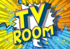 Δωμάτιο TV - λέξεις ύφους κόμικς απεικόνιση αποθεμάτων