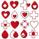 Δωρεά αίματος - διάνυσμα διανυσματική απεικόνιση