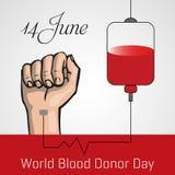 Δωρεά αίματος, διανυσματική αφίσα ημέρας παγκόσμιων χορηγών διανυσματική απεικόνιση