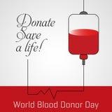 Δωρεά αίματος, διανυσματική αφίσα ημέρας παγκόσμιων χορηγών ελεύθερη απεικόνιση δικαιώματος