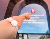 Δωρεά αίματος, μετάγγιση αίματος, έλεγχος που διευκρινίζεται, νηστεία, υγειονομική περίθαλψη Στοκ Φωτογραφίες