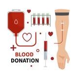 Δωρεά αίματος infographic διανυσματική απεικόνιση