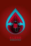 Δωρεά αίματος Logotype Στοκ εικόνες με δικαίωμα ελεύθερης χρήσης