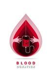 Δωρεά αίματος Logotype Στοκ εικόνα με δικαίωμα ελεύθερης χρήσης
