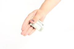 Δωροδοκία εκμετάλλευσης χεριών στο λευκό Στοκ εικόνες με δικαίωμα ελεύθερης χρήσης