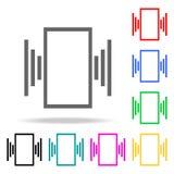 δόνηση στα τηλεφωνικά εικονίδια Στοιχεία των ανθρώπινων χρωματισμένων Ιστός εικονιδίων Γραφικό εικονίδιο σχεδίου εξαιρετικής ποιό απεικόνιση αποθεμάτων