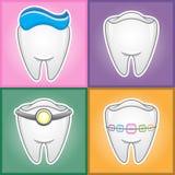 Δόντια - απεικόνιση  Στοκ εικόνα με δικαίωμα ελεύθερης χρήσης