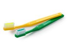 Δόντια βουρτσών που απομονώνονται στο άσπρο υπόβαθρο Στοκ Εικόνες