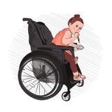 δόντια βουρτσών σας Στοματική φροντίδα disabled διανυσματική απεικόνιση