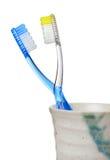 δόντια βουρτσών Στοκ φωτογραφίες με δικαίωμα ελεύθερης χρήσης