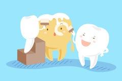 Δόντια που λευκαίνουν την έννοια Στοκ φωτογραφία με δικαίωμα ελεύθερης χρήσης