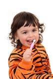 δόντι κοριτσιών βουρτσών Στοκ Εικόνες