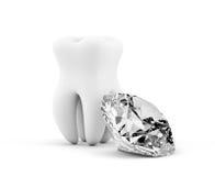 Δόντι με το διαμάντι διανυσματική απεικόνιση