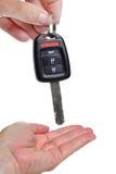 Δόσιμο του κλειδιού Στοκ φωτογραφία με δικαίωμα ελεύθερης χρήσης