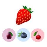 Δύναμη εικονιδίων φρούτων διανυσματική απεικόνιση
