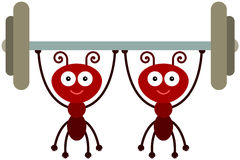 Δύναμη μυρμηγκιών απεικόνιση αποθεμάτων